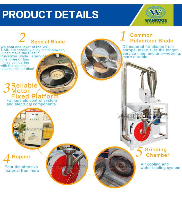 ABS ,EVA ,PP Disc Plastic Pulverizer detail