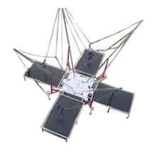 DJBTR33 4 Persons Square Trampoline Bungee with trailer