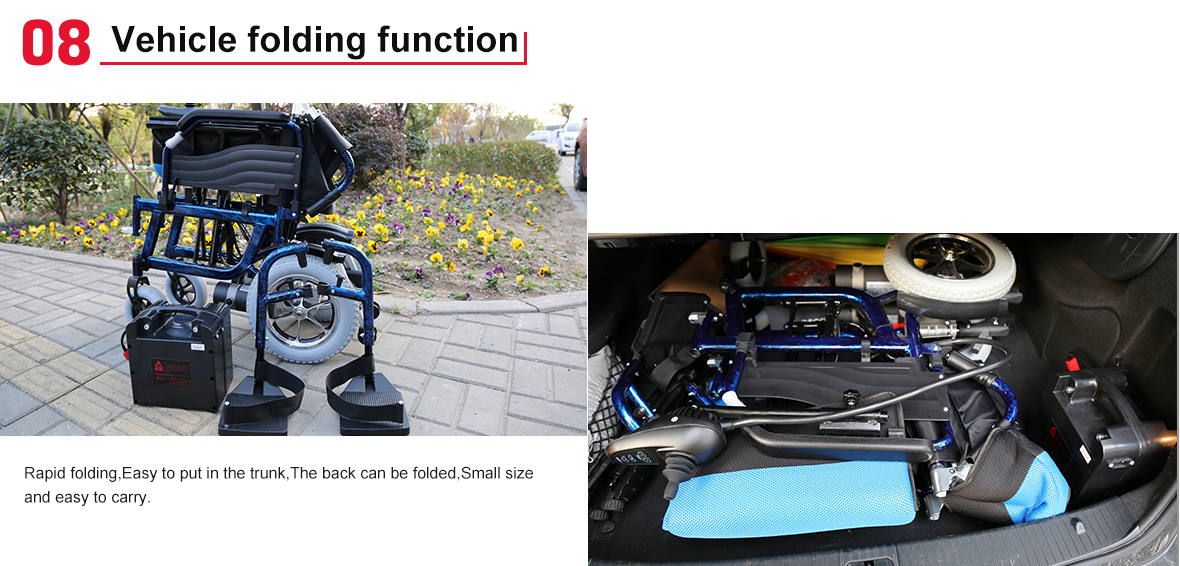 electric wheelchair fold
