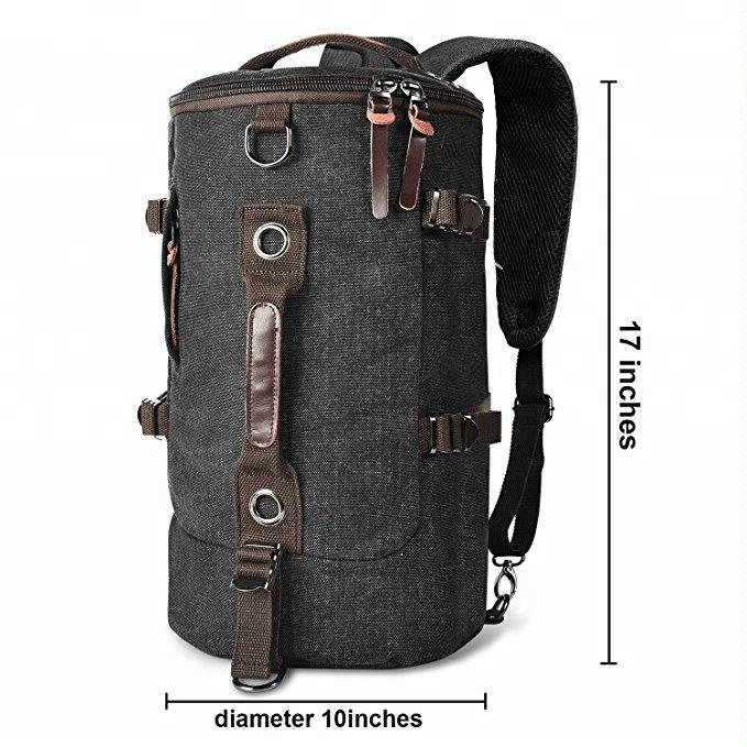 306f8a1015e8 Duffel Cylinder Bag Canvas Travel Backpack for Men Hiking Luggage Weekend Bag  Outdoor Travel Bag