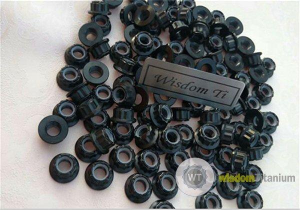 12 point flanged nylock nut titanium J5.3