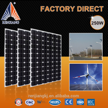 Alibaba High Efficient Grade A 250W 260Wp 270 Watt Mono Solar Panel