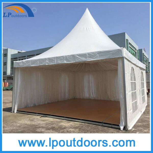 6X6m Outdoor Luxury Pagoda Marquee Tent with Wood Flooring