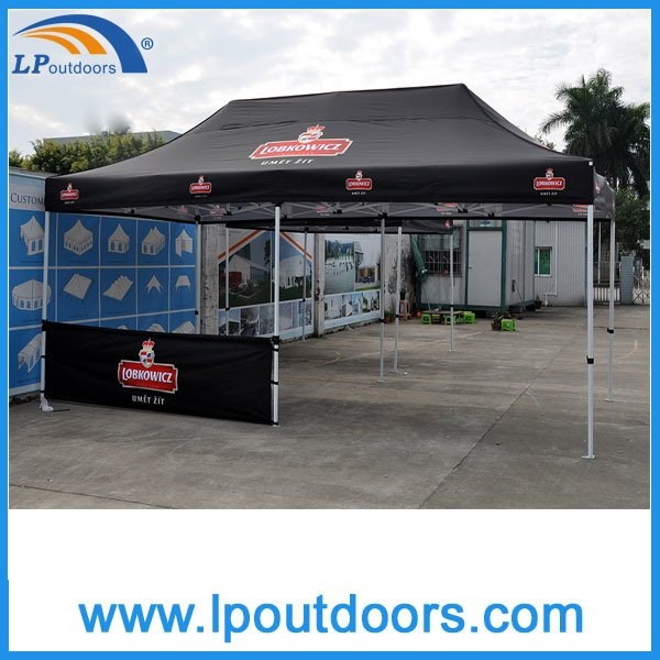 3X6m Outdoor Hexagon Steel Frame Folding Tent Pop up Canopy for Advertising