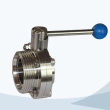 Sanitary male-welded butterfly valve