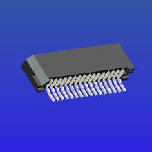 1.0mm间距C型双面接卧贴无锁式FPC
