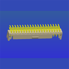 PH2.0mm间距双排带扣T2弯针