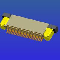 0.5mm间距全包上接抽屉式FPC