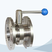 Sanitary flanged butterfly valve