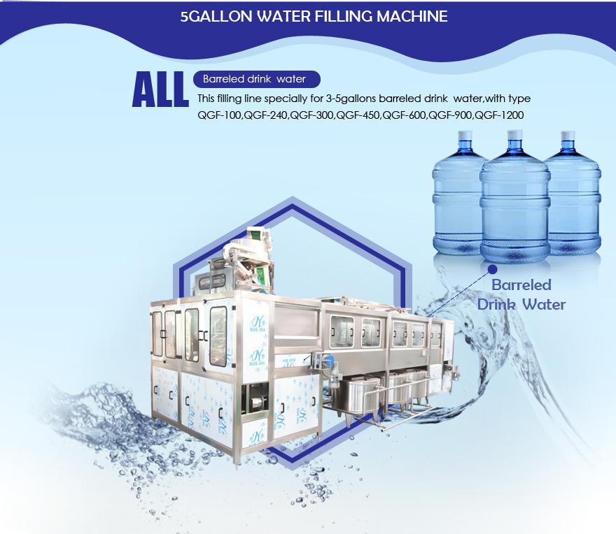 5 gallon filling machine line