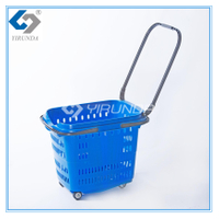 58L Plastic Shopping Basket in Blue ( YRD-12)