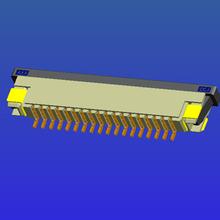 1.0mm间距带锁卧贴下接抽屉式FPC