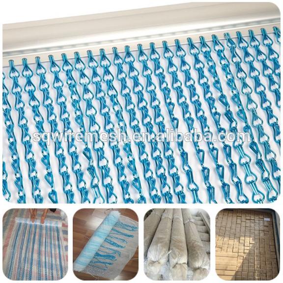 Anodized chain link Curtain / Decorative metal chain link mesh curtain