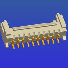 PH2.0mm间距单排带扣SMT