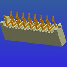 1.0mm间距B型单面接直针无锁式FPC