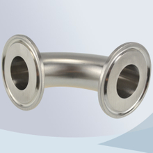 stainless steel food processing tri-clamp 90d bend / elbow