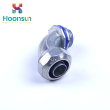 hot sale 90 degree zinc alloy metal fittings waterproof conduit fittings