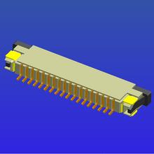 1.0mm间距带锁卧贴上接抽屉式FPC