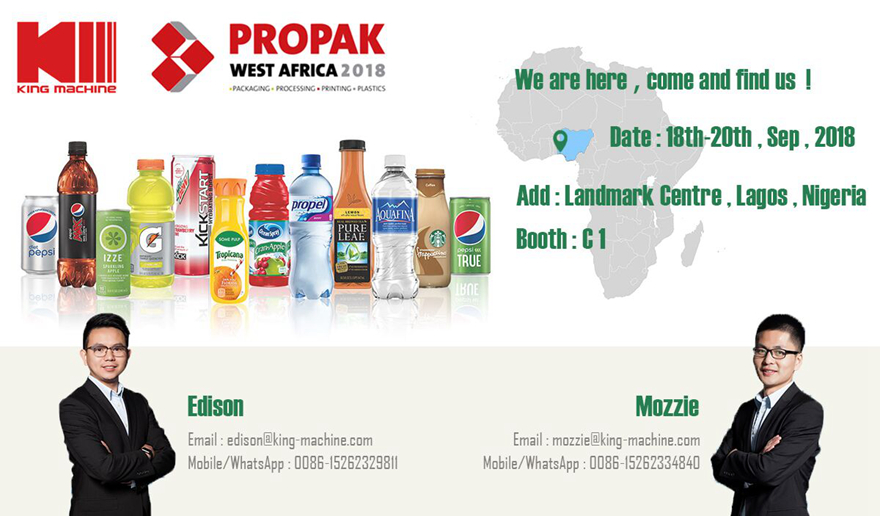 KING MACHINE IN PROPAK WEST AFRICA 2018
