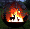 Wood burning Outdoor treasures Metal Firepit