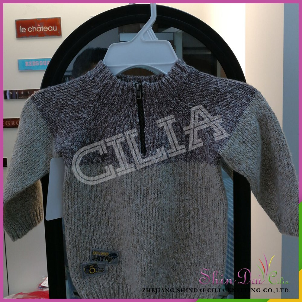 Factory Free Sample Winter Warm Knitted Patterns Pullover Sweater Basic Pull Over For Boy