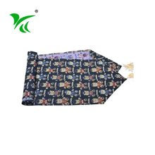 Fashion decorative flower cotton polyester tapestry table runner