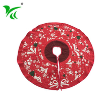 Home decoration holiday mini Polyester Cotton christmas tree skirt