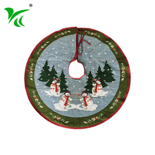 Wholesale custominzed washable unusual christmas tree skirts