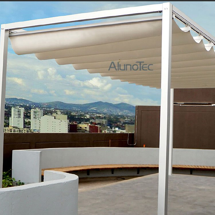 Electric Control Waterproof Aluminium Retractable PVC Roof Awning System