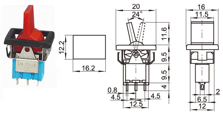 KNX-1 mini tiggle swicth with plastic handle