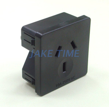 1U size 45mm*45mm 10A Australia Outlet Socket