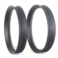 26er fat bike carbon rims 90mm width 40mm depth tubeless/clincher