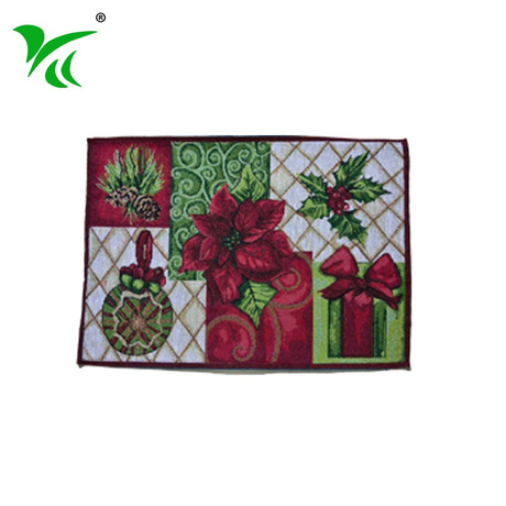 Newest design eco-friendly tapestry woven christmas placemat set