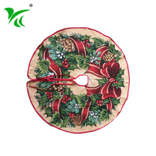 Wholesale custominzed inexpensive extra large christmas tree skirt