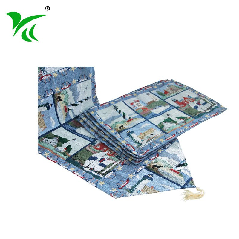 Alibaba suppliers custom best tapestry christmas table runner