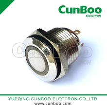 PBS28 ring metal push button switch with LED light