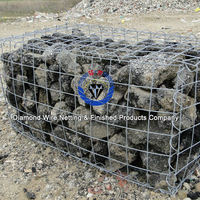 Cheap Hot-dipped Galvanized Welded Metal Gabion Box Products