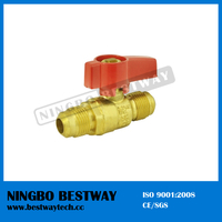 5/8 inch brass gas ball valve Flare x Flare with aluminum handle (BW-USB8)