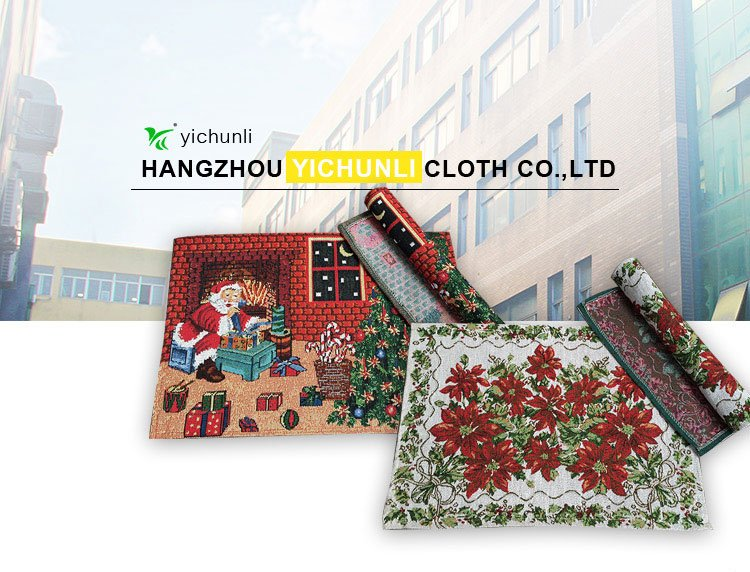 Wholesale custom factory price kitchen table mats christmas placemat