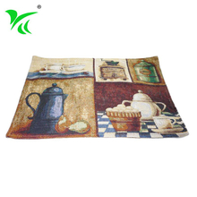 Factory Direct custom woven tapestry dining table place mat