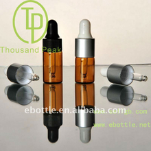 TP-2-08-1 2.5ml brown dropper bottle, used for comestic and perfume packing, essential oil glass vials