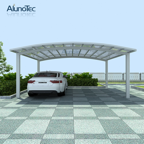 UV Protection Aluminium Frame Polycarbonate Car Parking Carports