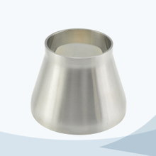 Sanitary pipe fitting welded concentric reducer with straight end
