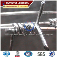 galvanized&PVC Coated barbed wire fence with post