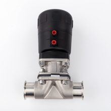 China HIGH QUALITY Stainless Steel Sanitary Clamp Manual Diaphragm Valve Pneumatic With Plastic Actuator