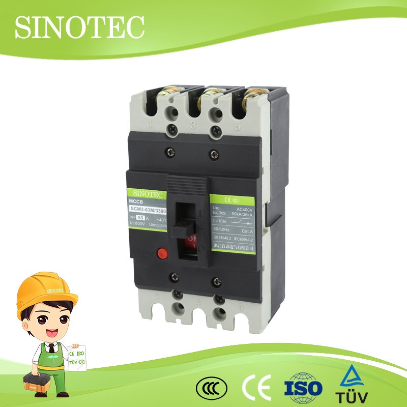 CM3 Molded Case Switch Shunt Trip Electric Circuit Breakers 4 Pole ...