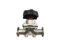 China Stainless Steel Sanitary Clamp Manual Diaphragm Valve