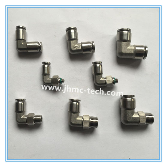 Stainless Steel Push-in union pneumatic fittings