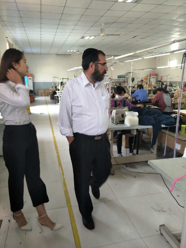 Welcome jewish customers to visit our factory