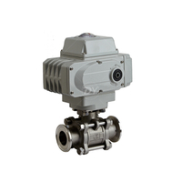 Sanitary SS Electrical Actuated Ball Valve